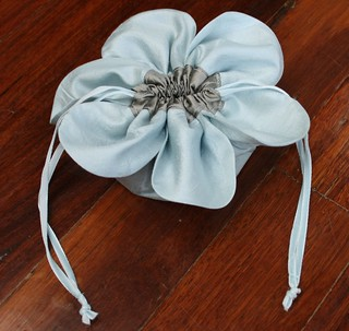 Forget-me-not jewellery pouch