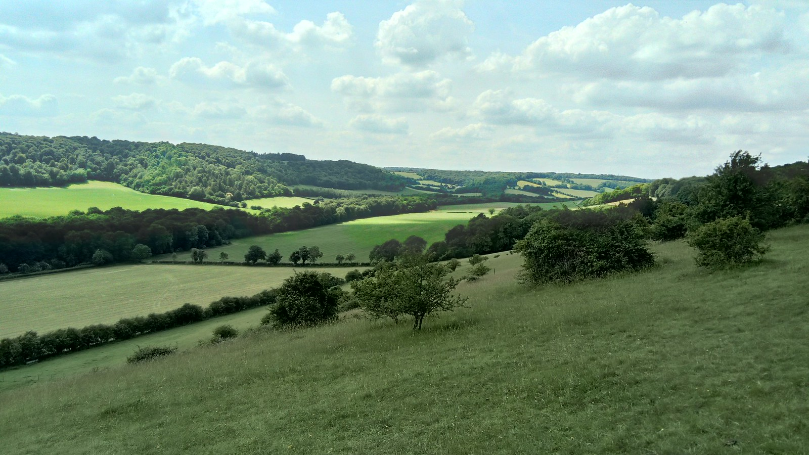 North Easterly view from Cobstone/Turville Hill SWC Walk 223 Henley-on-Thames Circular (via Turville)