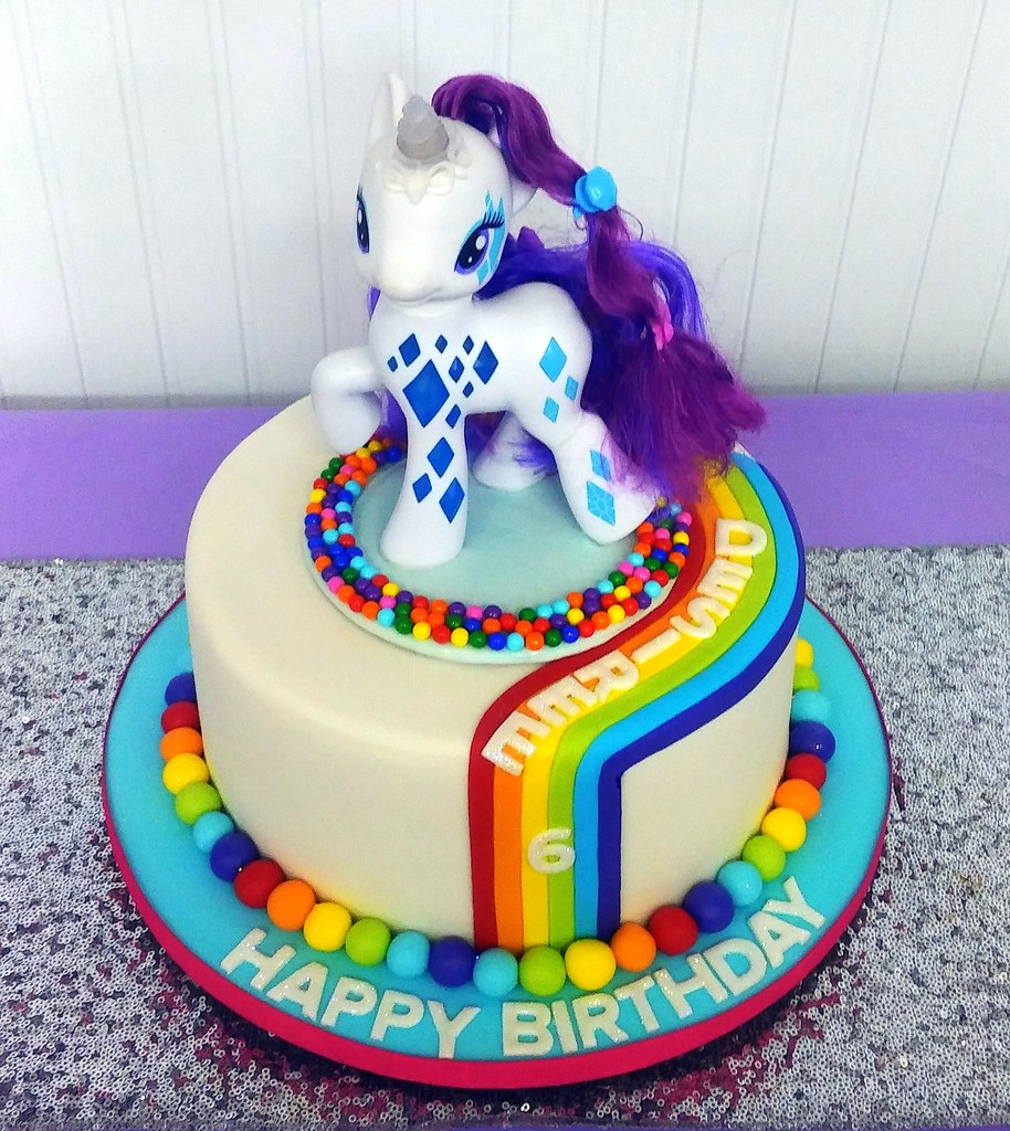 Terrific Desirees My Little Pony 6Th Birthday Cake This Cake Was D Flickr Funny Birthday Cards Online Barepcheapnameinfo