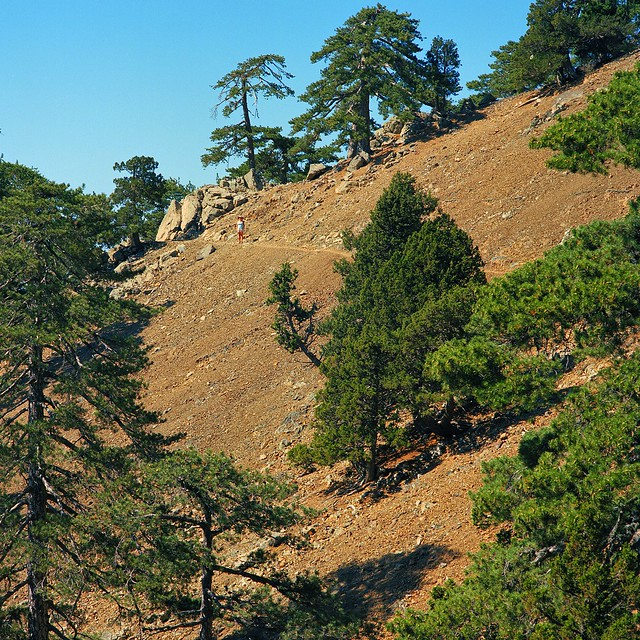 Figure on the trail, Troodos