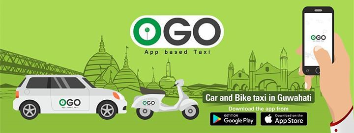 Guwahati's new cab/bike service : OGO Download app from