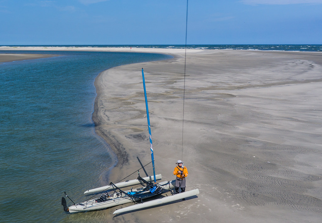 Stone Harbor Point to Sea Isle Hobie TI - Kite Aerial Photography