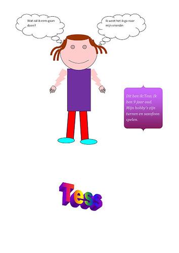 zelfpotret Tess