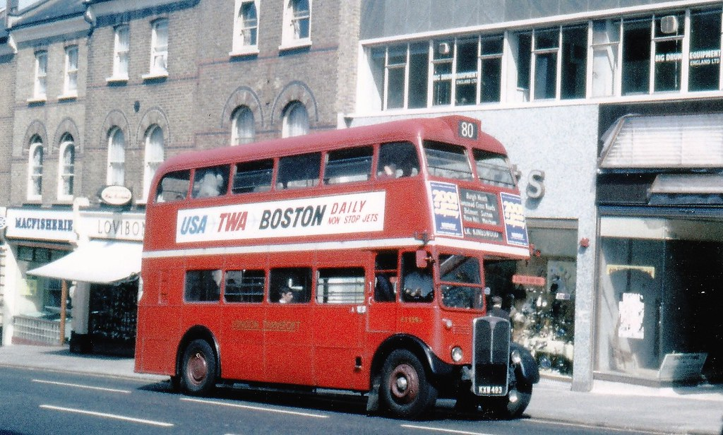 London transport RT1394 on route 80 Sutton high street 196