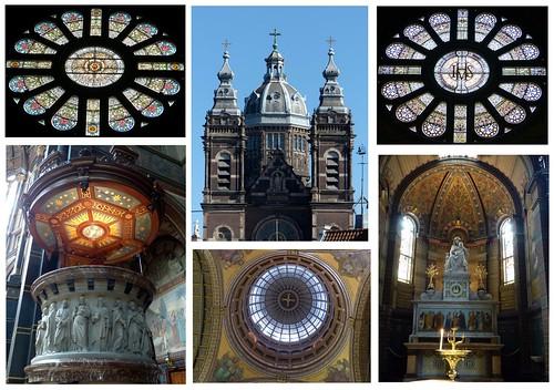 amsterdam holland niederlande netherlands basilicaofsaintnicholas sintnicolaasbasiliek basilikastnikolaus collage