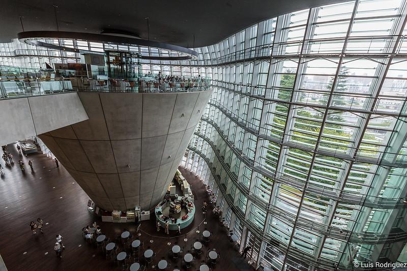 Interior del National Art Center, Tokyo