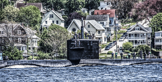 Submarine in Thames River