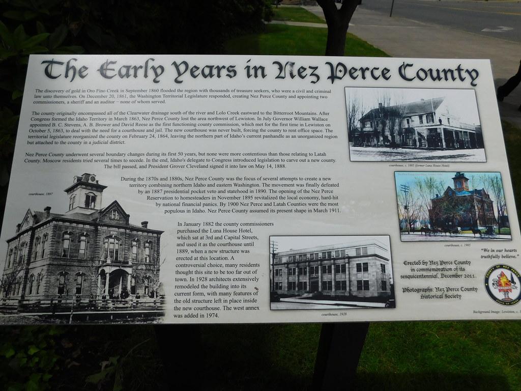 Nez Perce County Courthouse Historic Marker | Lewiston, Idah