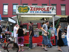 """""""Charlie and Tara's Zeppole"""" as seen during the Feast of San Gennaro in LIttle Italy."""