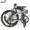 351-TERB-VER-1702 Tern 2017 Verge D9 (00)鋁合金折疊車22吋9速1x傳動系統451 輪組青銅底綠標-白線