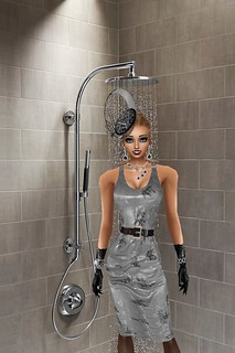 Grey Dress in the Shower
