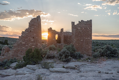 Sunset at Hovenweep Castle