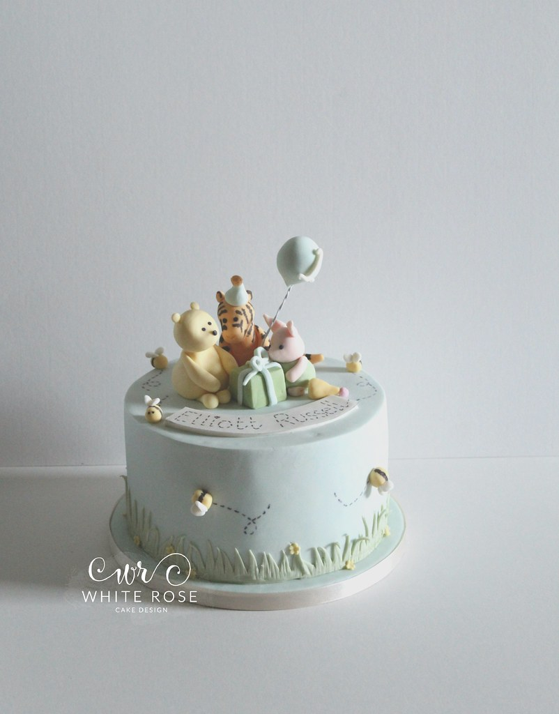 Classic Winnie The Pooh Birthday Cake With Tigger And Piglet By White Rose Design Bespoke