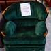Dark green fabric arm-chair E45