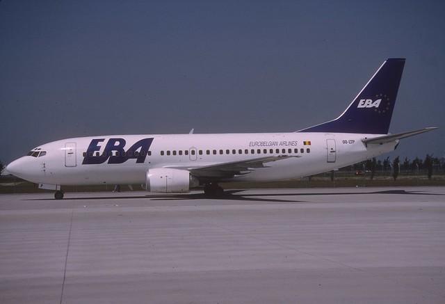 EBA Eurobelgian Airlines Boeing 737-300; OO-LTP, June 1993