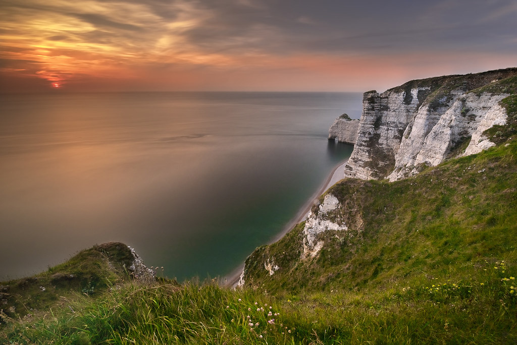 Sunset on the cliffs