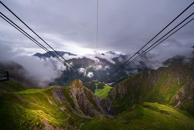 Thunderstorm at the mountain station Trider Sattel - Graubünden - Switzerland
