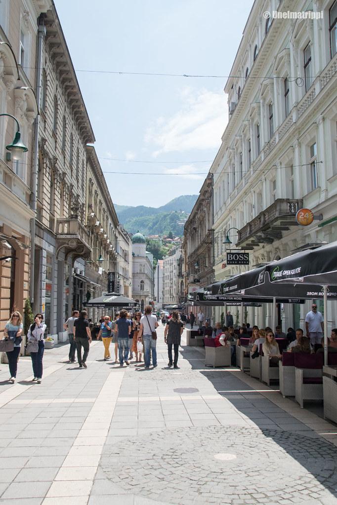 Sarajevon keskustan kävelykatu