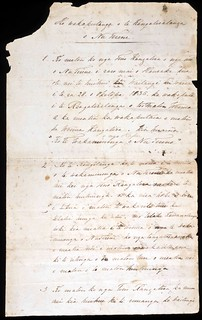 Draft of He Whakaputanga o te Rangatiratanga o Nu Tirene [1 of 2] | by Archives New Zealand