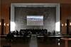 Der Karlsruher Imagefilm wird den Gästen vorgeführt