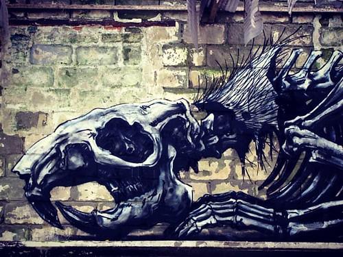 Roa @ to the Bone urbex expo #roa #totheboneexpo #urbex #streetart #graffiti #gent #ghent