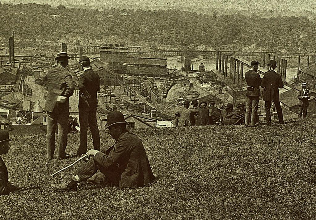 Steel workers strike at Carnegie Mills, Homestead, PA July 1892