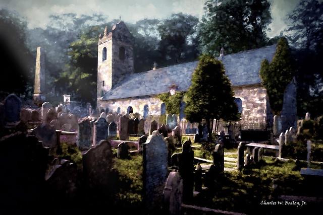 Digital Oil Painting of Kirk Braddan in Douglas by Charles W. Bailey, Jr.