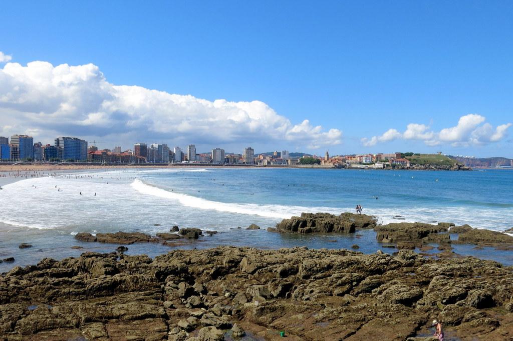 Playa de san Lorenzo de Gijón