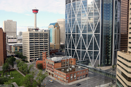 alberta canada canadian city urban centre center downtown thebow building office tower architecture 2017aimg9340 hyatt regency hotel northwesttravellers firehall no number 1 one historic old