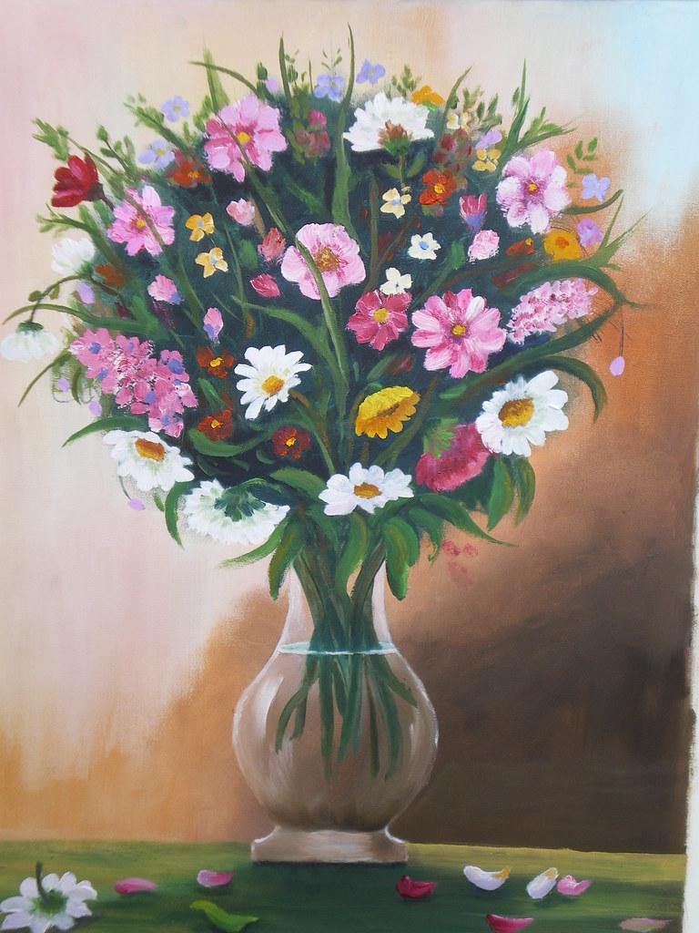 Fiori Vaso.Vaso Di Fiori Dipinto A Olio 30 X 40 Renoil L Flickr