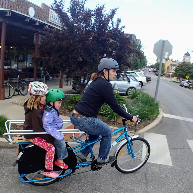 Cargo bike test drive-- getting the hang of it