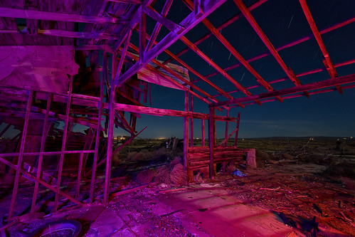 eyetwistkevinballuff eyetwist night abandoned collapsed leaning derelict farmhouse homestead mojavedesert antelopevalley nikon nikond7000 d7000 nikkor capturenx2 1024mmf3545g fullmoon photography desert arid dark longexposure moonlight moonlit tripod npy nocturne highdesert mojave california moon long exposure angle wideangle wide light painting lightpainting roadside america tumbleweeds horizon forgotten ruin decay house shack wood crumbling broken architecture peeling faded weathered roof wall stars startrails northstar urbex alfalfa farm sky clapboard saturated av antelope valley purple red landscape