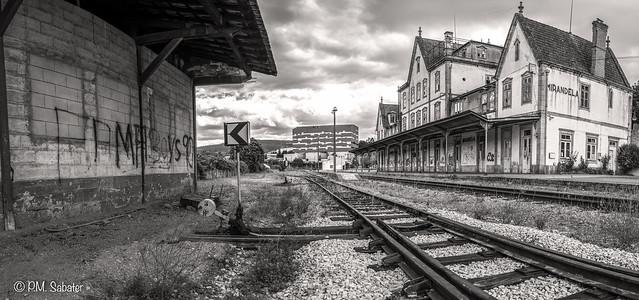 PORTUGAL - ESTACION DE MIRANDELA B&N flickr