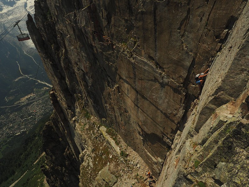 Brevent. Frison Roche top pitch. Climber: Jessica Herry