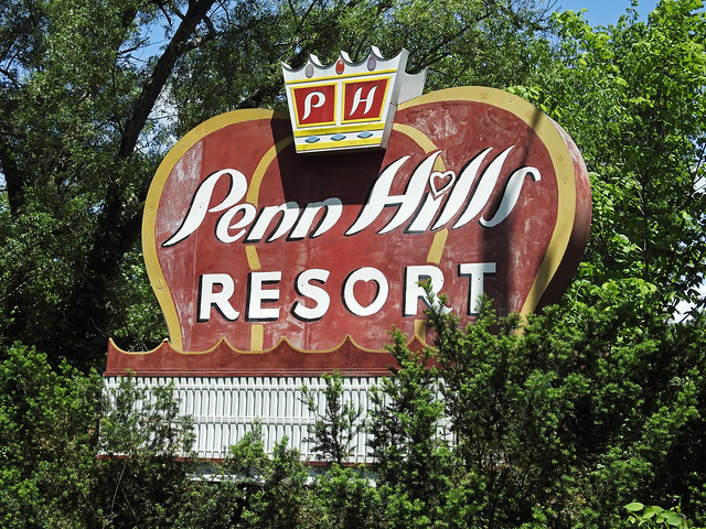 Penn Hills Resort Sign; Analomink, Pennsylvania