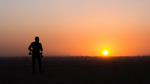 cairo egypt sunset horizon photographer traveller adventure sun sky middleeast africa arab canon