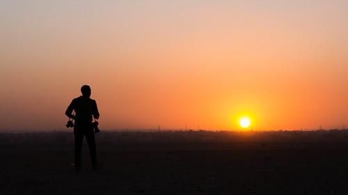 cairo egypt sunset horizon photographer traveller adventure sun sky middleeast africa arab canon