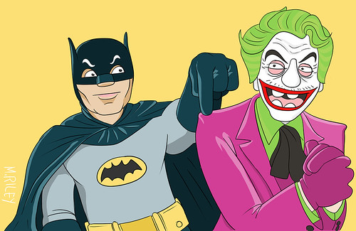adam west and cesar romero | by Mike Riley