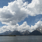 Jackson Lake backdropped by Tetons from Hermitage Point