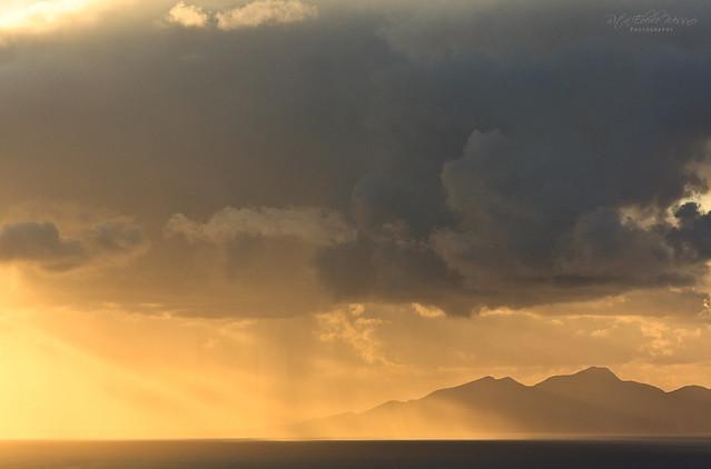 Morning glow (View from Santorini to Anafi island)