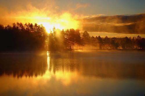 dalarna gimmen midsommar midsummer sjö soluppgång summer sunrise sweden