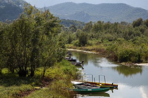virpazar montenegro river boat landscape