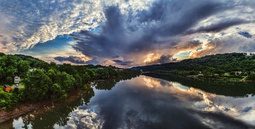 ultravividimaging ultra vivid imaging ultravivid colorful canon canon5dmk2 clouds sunsetclouds scenic rural vista spring reflections river rainyday stormclouds landscape lateafternoon pennsylvania pa panoramic