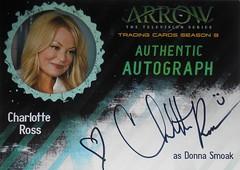 Arrow Season 3 - Auto CR - Charlotte Ross as Donna Smoak