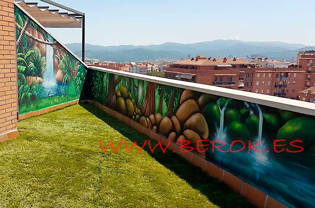Murales Terraza Ripollet Pintura Mural Decoración Graffi
