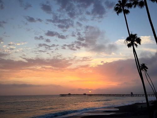 southerncalifornia sanclementepier beach sundown coastalview california sunset