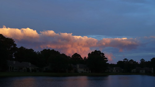 sunset oppositesunset alpenglow sky cloudscape cloudsstormssunsetssunrises clouds sony sonyphotographing fairfieldharbour northcarolina