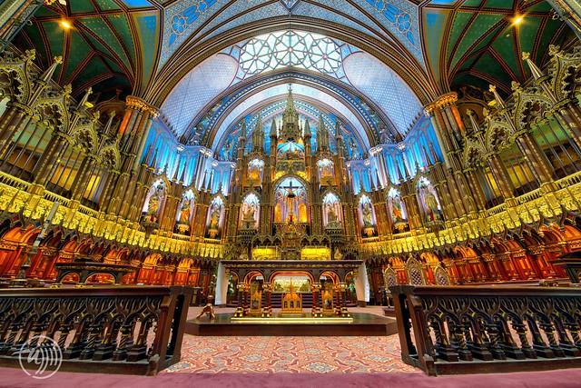 Canada - Québec - Inside of Notre-Dame Basilica (Montreal)