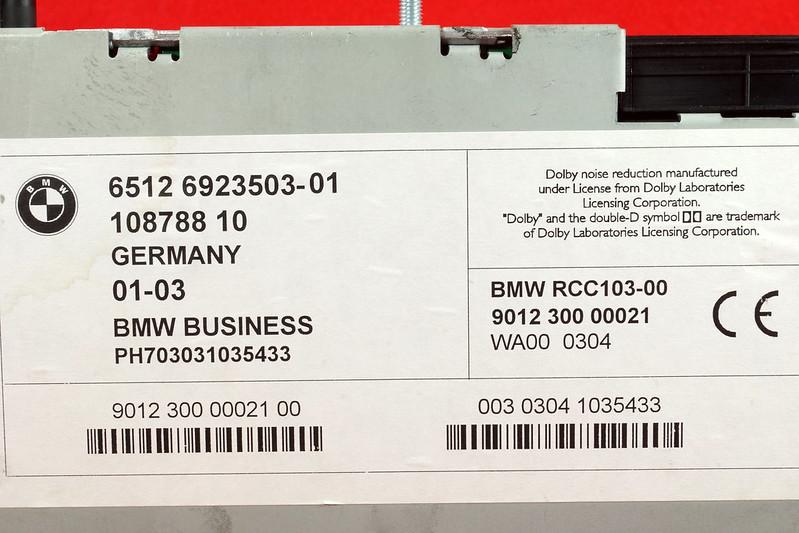 RD16592 Original BMW Business Mini R50 R52 R53 Dolby Kassettenradio Cooper One Autoradio 6512 6923503-01 DSC00759