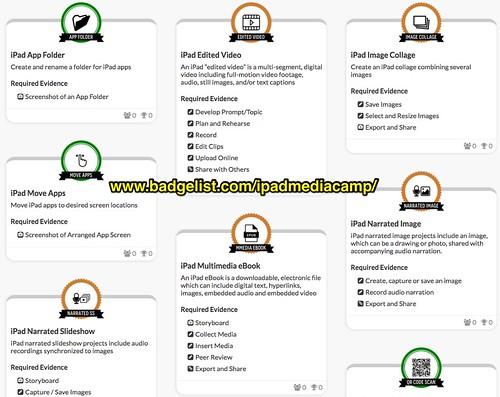 iPad Media Camp Badges via Badgelist   by Wesley Fryer